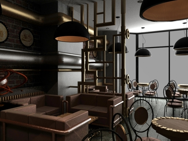 Modern Interior Design And Exquisite Decoration Steampunk