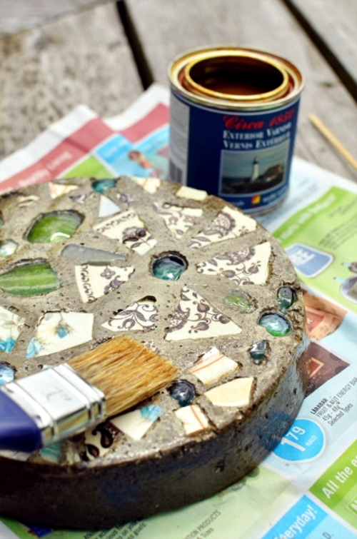 Mosaic decorative stepping stone handicraft dish itself
