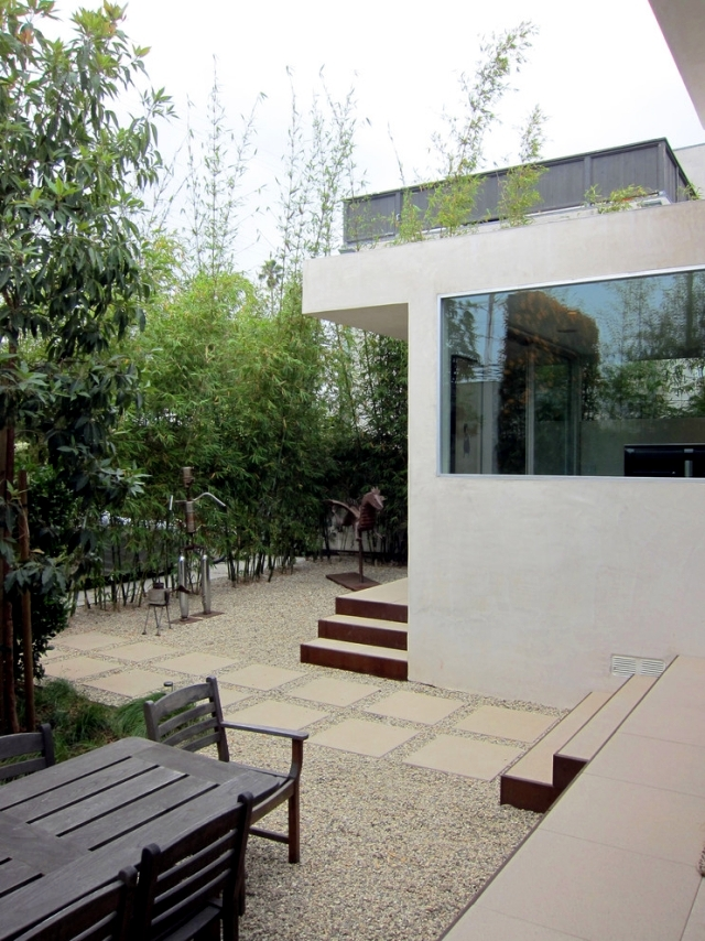 Keep prying eyes - Privacy patio with plants