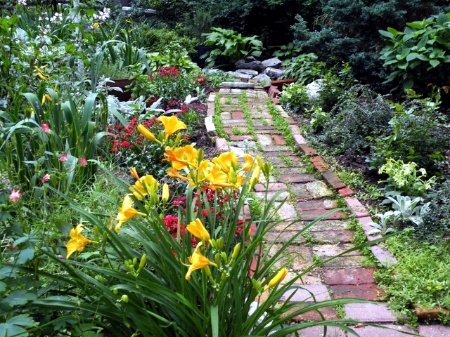 creating a beautiful garden paths for wide interior