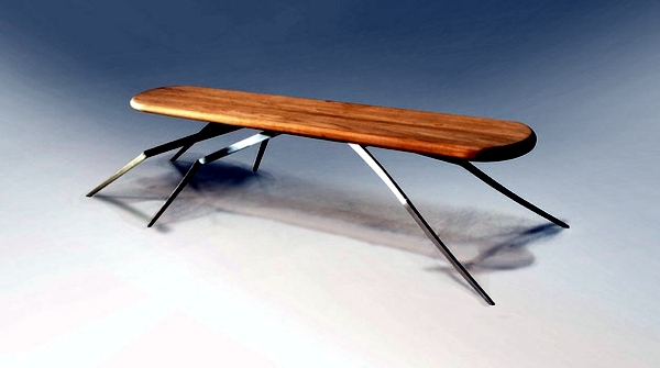 Collection futuristic furniture of different species of insects inspired