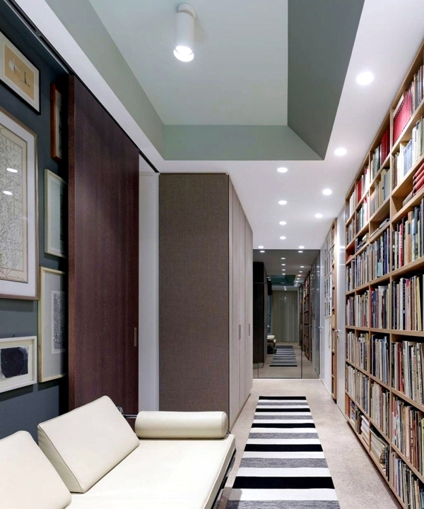 Interior of modern house with art wall decor