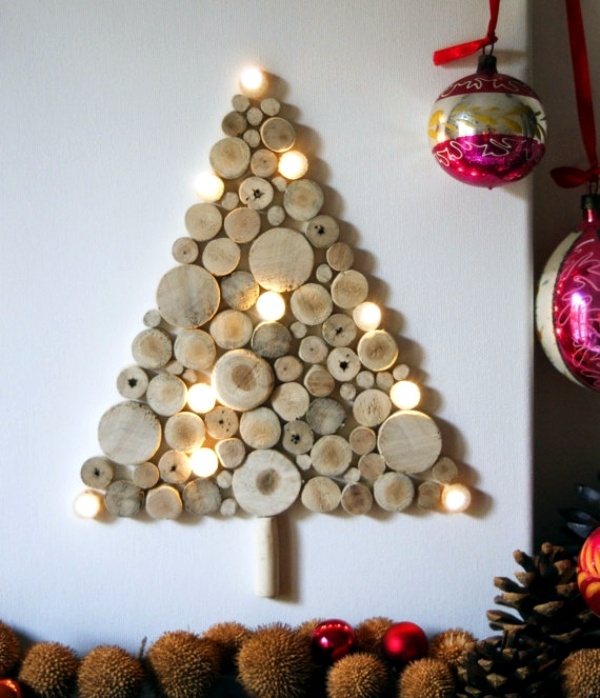 Making trees and stars garland itself - Christmas Decorations