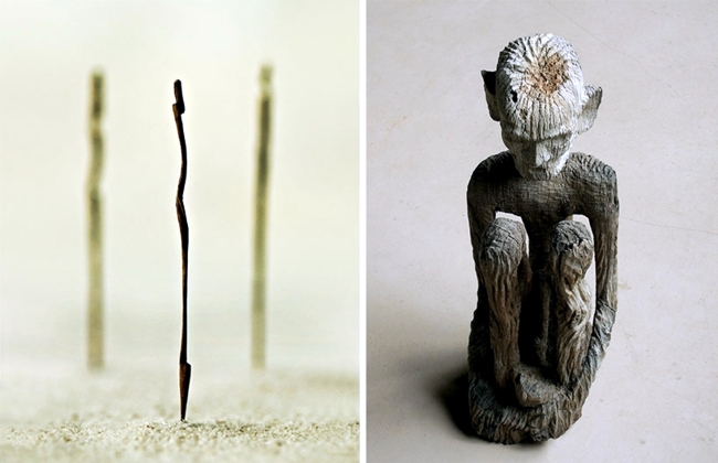 Modern art exhibition in Asia these thousand small sculptures