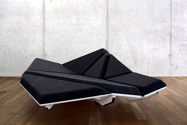 Dynamic Designer Sofa Cay Futuristic Look Interior
