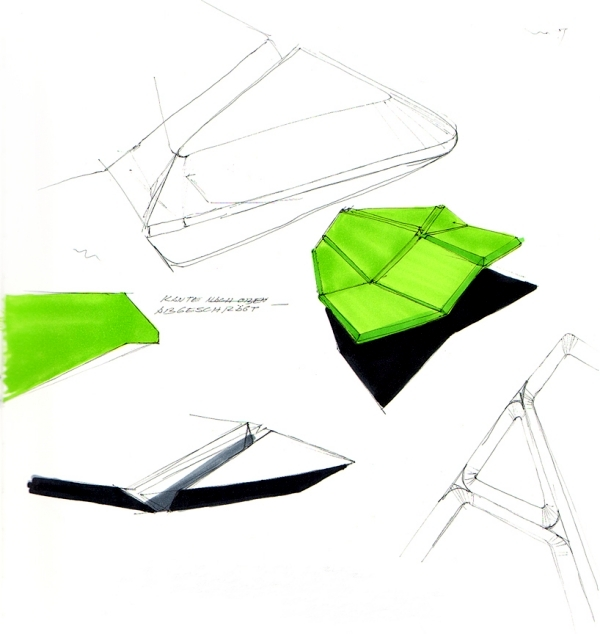 "Dynamic Designer Sofa ""Cay"" futuristic look"