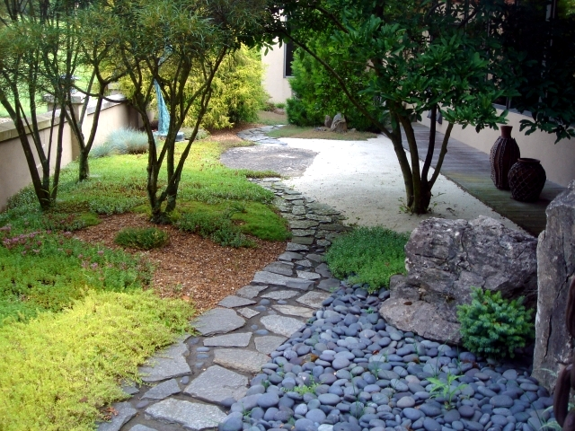 Garden design in Japanese style and countries - including plants?