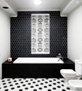 rectangular-bath-with-gray-trim-in-bath-drawn-black-and-white-0-310