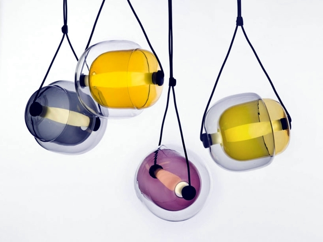 The Suspension Of Gl Capsule To Bring Color Your Home Designed By Czech Designer Lucie Koldova Talent Fascinated This Modern Lighting