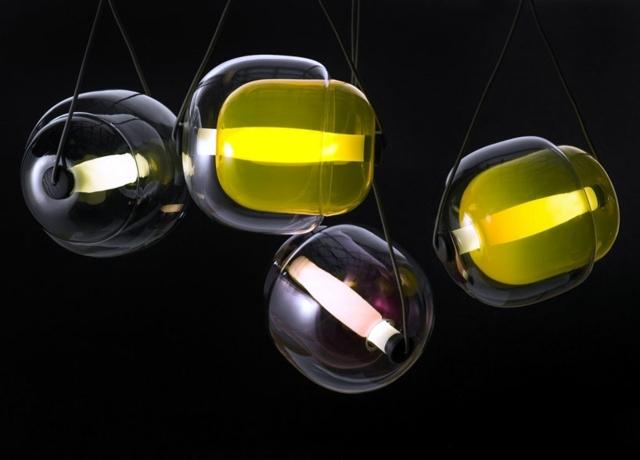 sets color glass pendant lamp inside