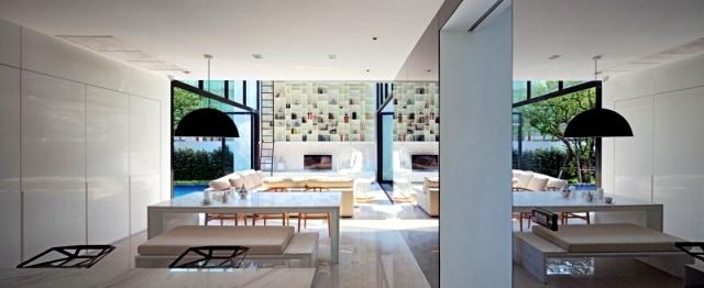 Modern house in Bangkok - glass walls allow sunlight in.