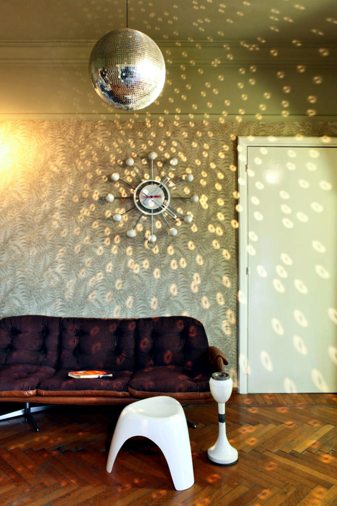 Disco Ball In The Living Room For Your Party At Home