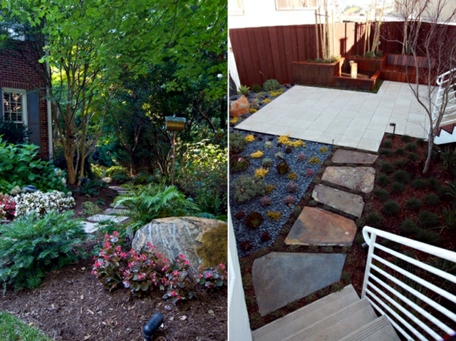 The creation of the garden path - pavement, gravel or wood yet?