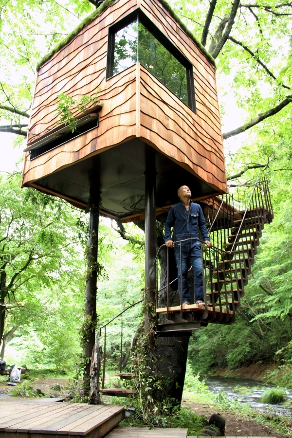 Tree house building in the forest - Amazing Tree Houses by Takashi Kobayashi