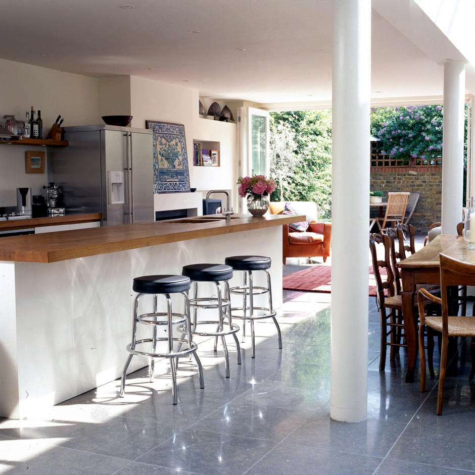Open Dining Room With Adjoining Kitchen