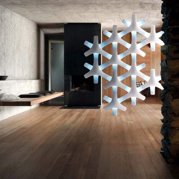 Modern design lamps - design ideas for room design with light