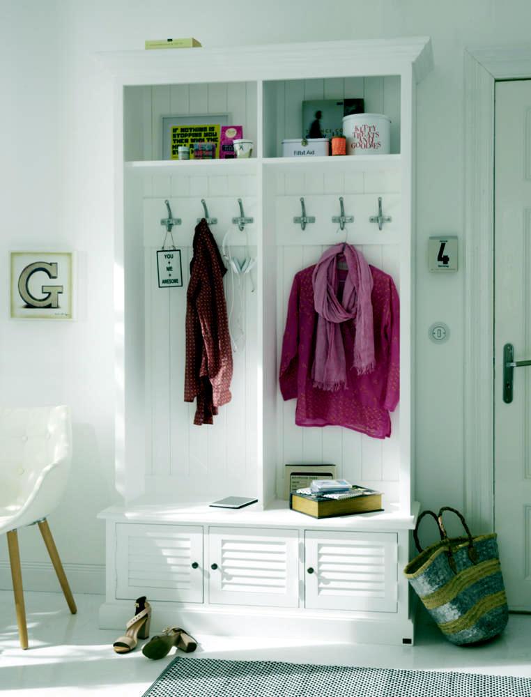 Wall Shelf Coat Rack In White With Doors Interior Design