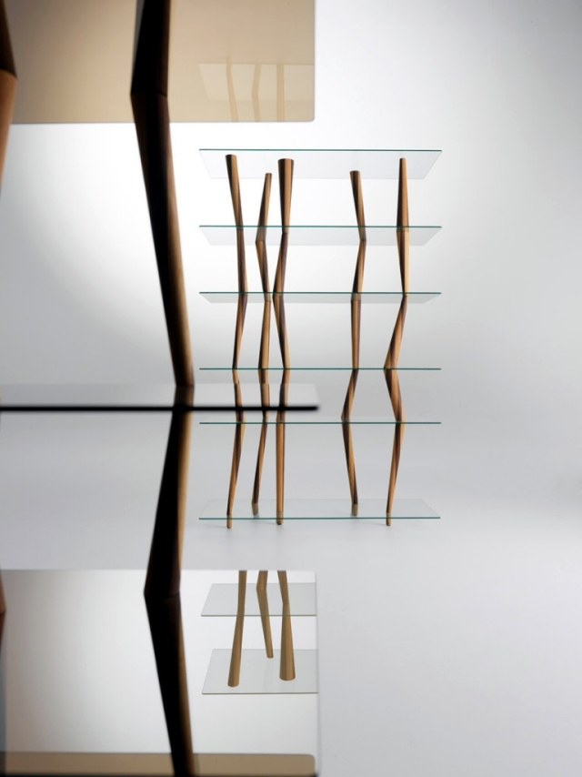 design shelf crystal sendai is reminiscent of bamboo sticks high interior design ideas. Black Bedroom Furniture Sets. Home Design Ideas