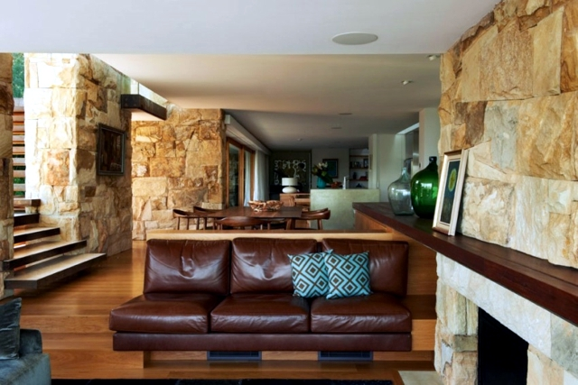 Dream House With A Facade Of Natural Stone In Sydney