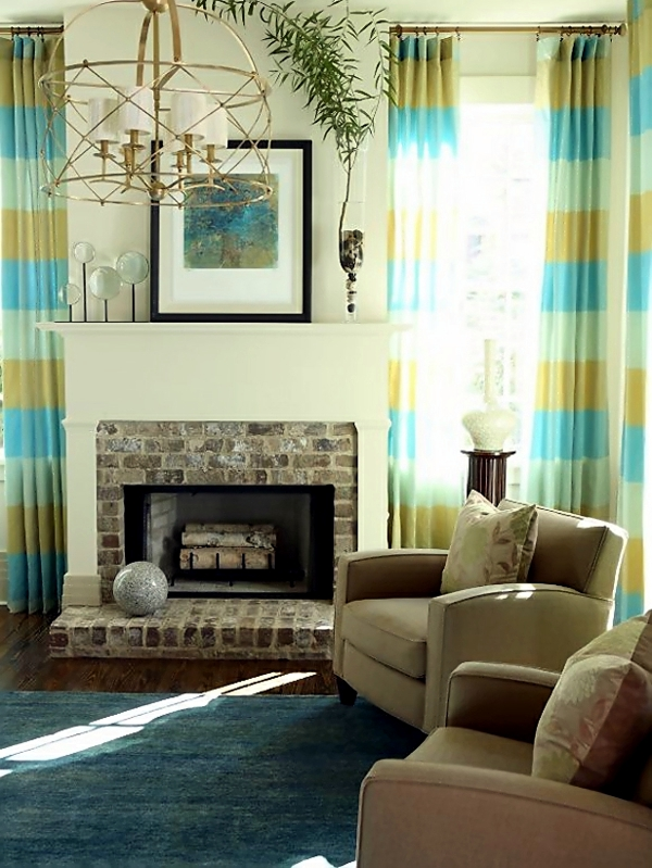 Curtains in the living room - Decorating ideas for each ...