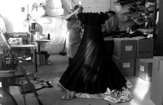 """Lamp stand with stunning lampshade fabric """"Ballerina"""" by Rakumba"""