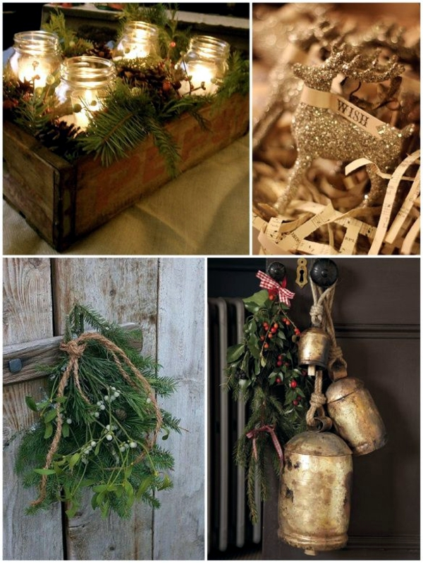 Winter decorating with natural materials - 20 great ideas