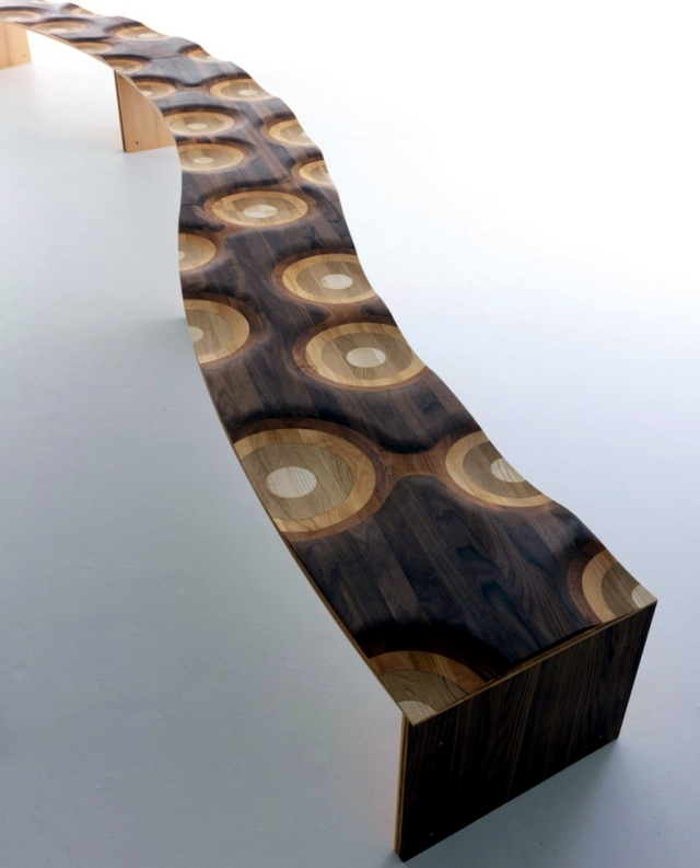 Wooden bench - winning design for public spaces