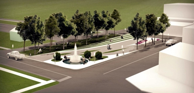 New project for the city park with an innovative concept