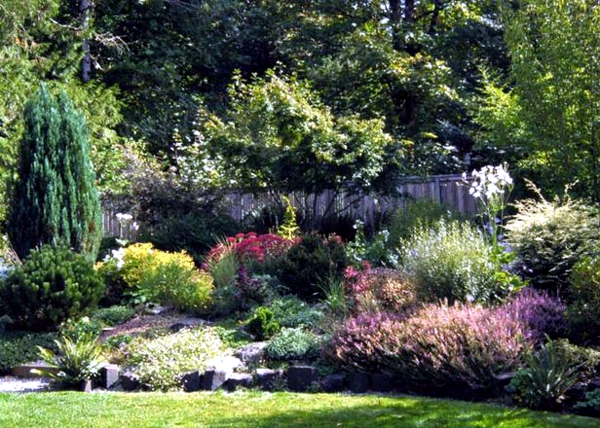planning and design of garden - planting flowers, shrubs ...
