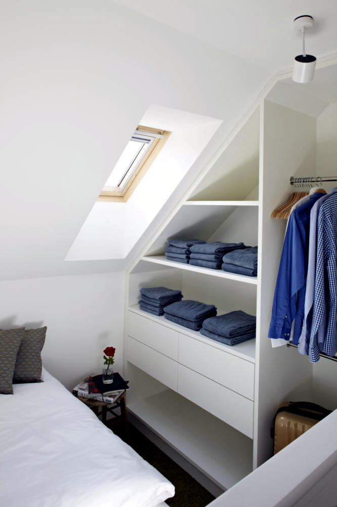 Built In Wardrobe Sloping Roof Interior Design Ideas