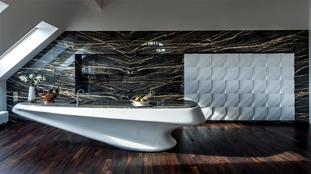 Corian modern luxury kitchen and marble iostudio for Modern luxury kitchen designs