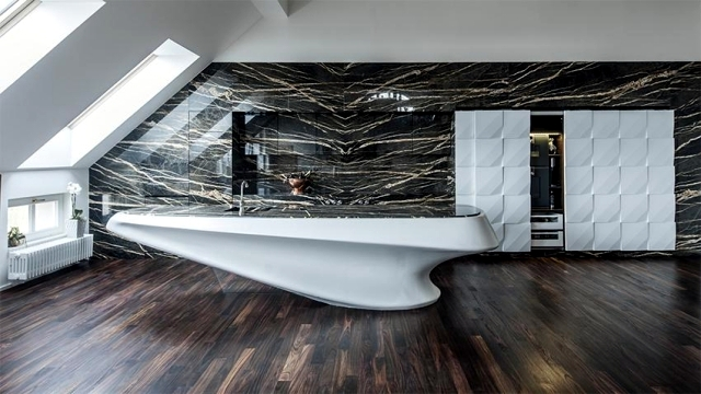 Corian Modern luxury kitchen and marble Iostudio