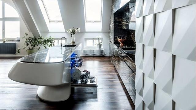 Corian Modern luxury kitchen and marble Iostudio