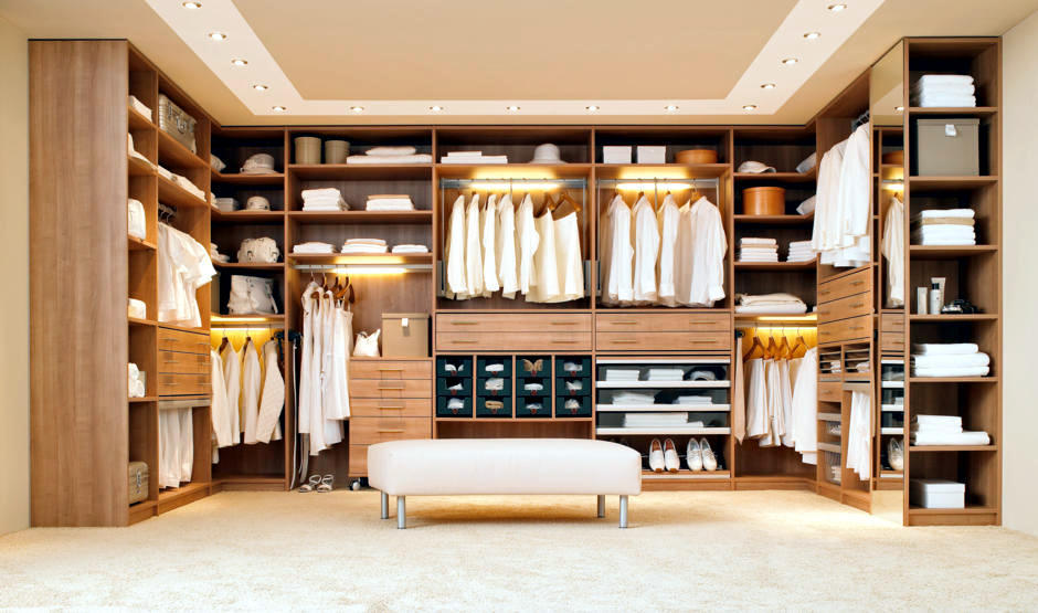 Walk in Closet With Built in Lighting Interior Design