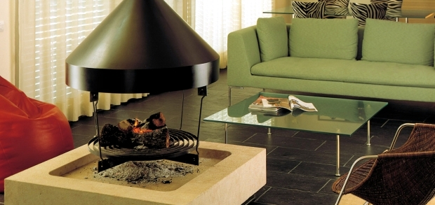 Standing fireplace, impressed by the style and practicality