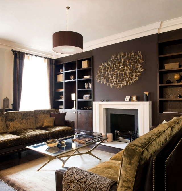 Living room interior design ideas – brown is modern | Interior ...