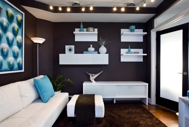 Living ideas interior design room - modern brown