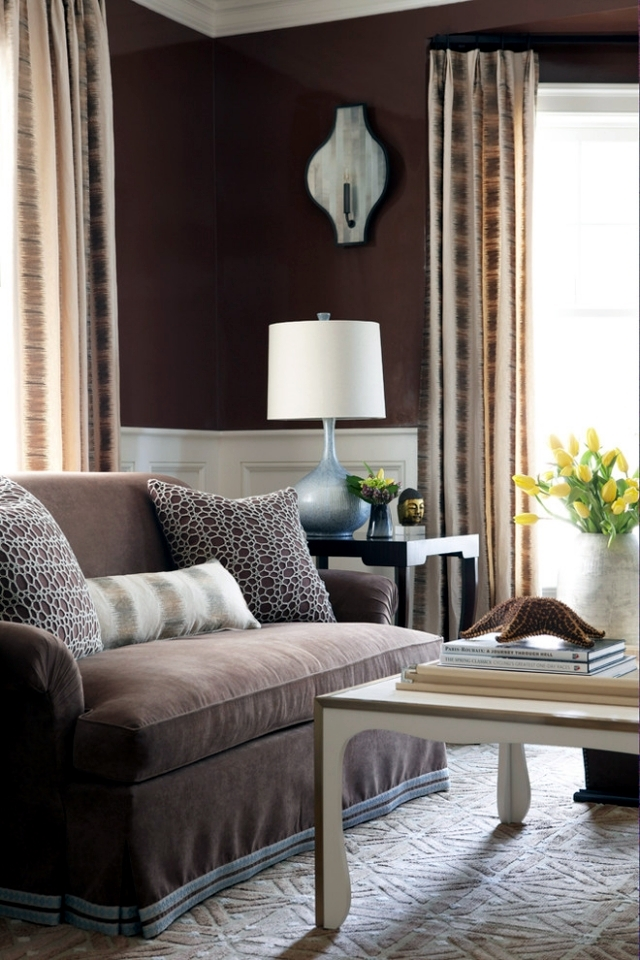 Living ideas interior design room - modern brown
