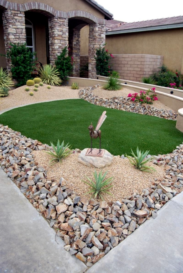 Landscaping with stone – 21 ideas for garden decorations. | Interior ...