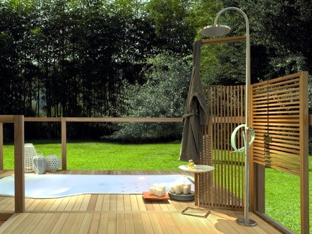 20 showers modern garden design - sleek look and functionality