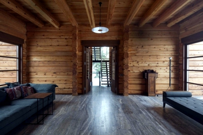 Minimalism In A Modern Wooden House Russia Near Moscow
