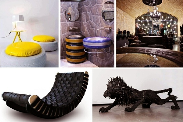 100 diy furniture from car tires tire recycling do it for Recycling furniture decorating ideas