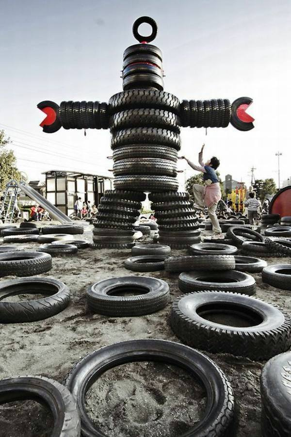 100 diy furniture from car tires tire recycling do it yourself giant robot 100 diy furniture from car tires tire recycling solutioingenieria Images