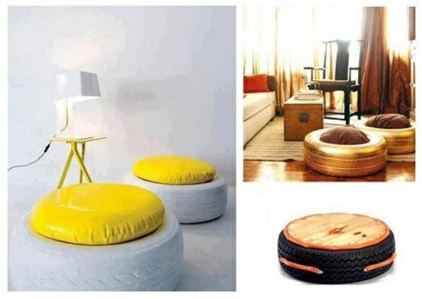 100 diy furniture from car tires tire recycling do it yourself interior design ideas. Black Bedroom Furniture Sets. Home Design Ideas