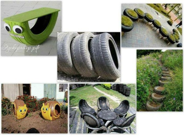 Ideas For Outdoor Use 100 DIY Furniture From Car Tires   Tire Recycling