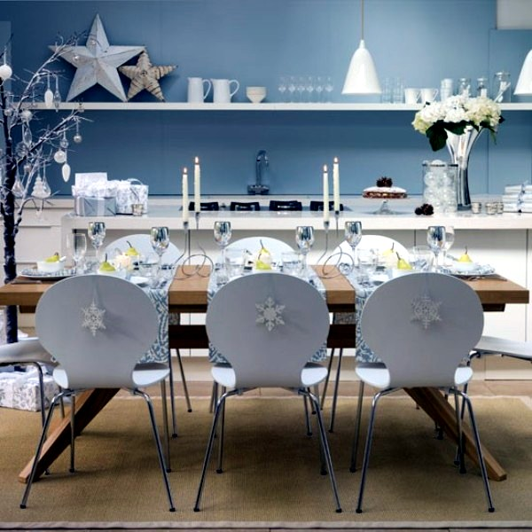 Bright white decoration ideas for winter and Christmas