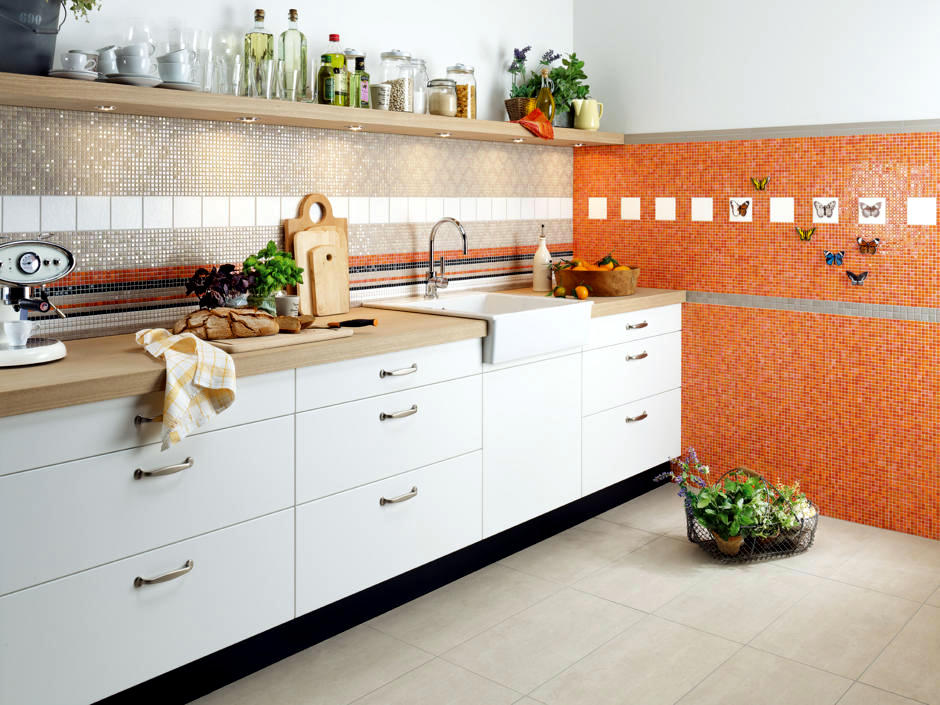kitchen design in black and orange  Interior Design Ideas  Ofdesign