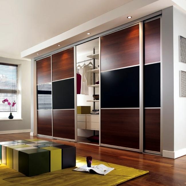 Wardrobe with sliding doors-A wonderful storage space under
