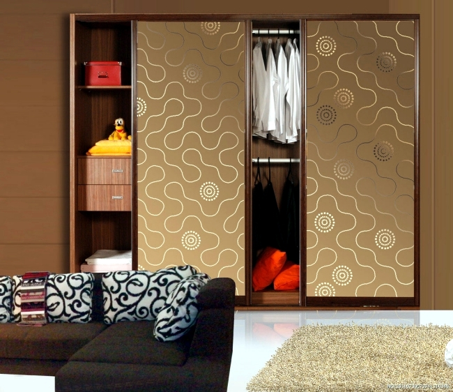 Color Coordinated Closet With Patterns