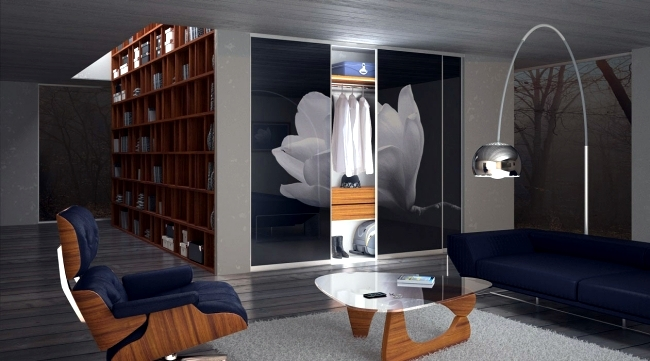Wardrobe with sliding doors-A wonderful storage space under
